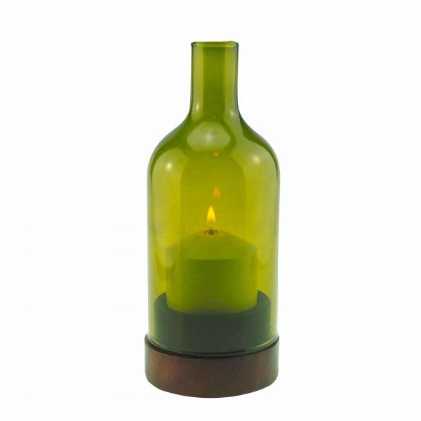 Ino Wood mit Farbglas gruen