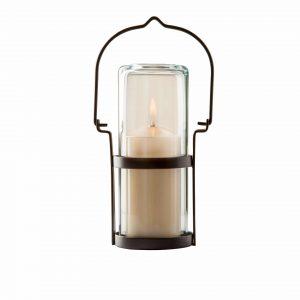 Lanterna braun mit Klarglas